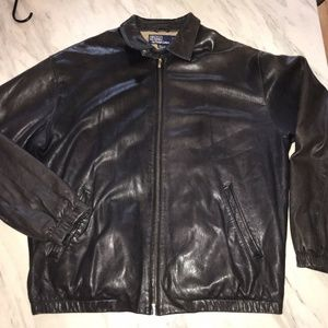 Vintage Ralph Lauren Leather Suede Bomber Polo